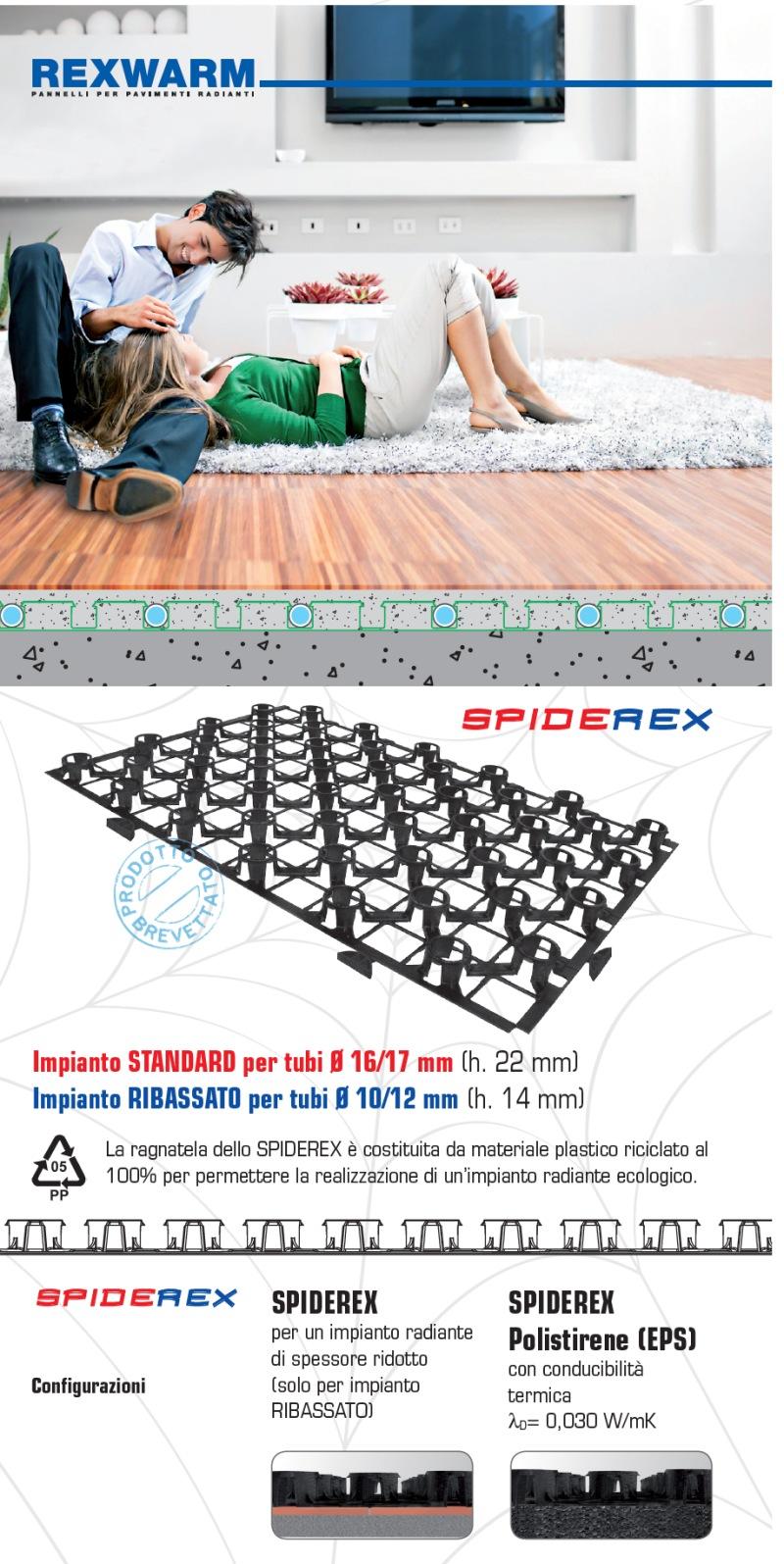 Riscaldamento A Pavimento Ribassato Spessore spiderrex - impianti riscaldamento a pavimento | rexwarm